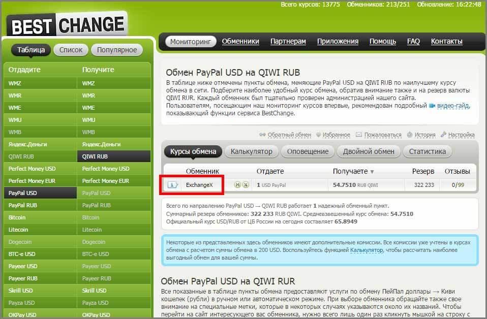 Как перевести деньги с PayPal на QIWI через сторонние обменники