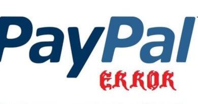 Ошибка 601 PayPal что это